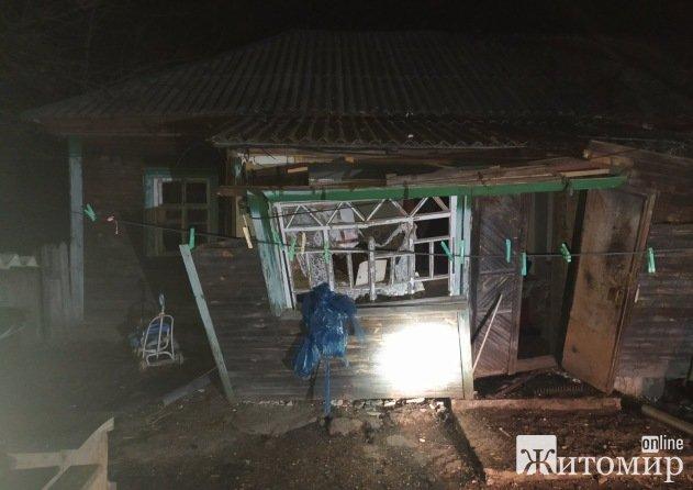 Через вибух газу в селищі Житомирської області травмувалося подружжя. ФОТО
