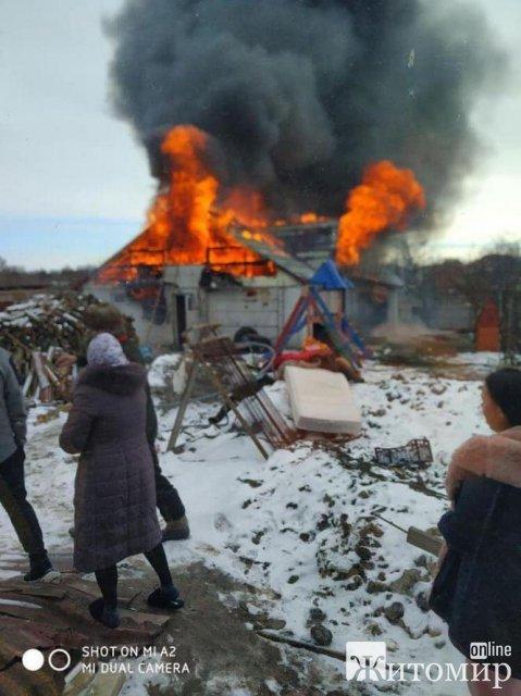 У багатодітного священика з Житомирської області вщент згорів будинок