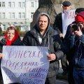 Під Житомирською ОДА мітингували представники трьох сільрад