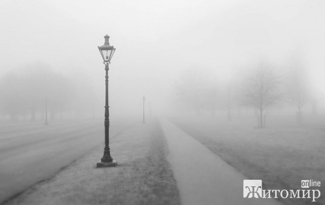 У п'ятницю в Житомирі буде туманно