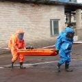 У Житомирі  рятувальники ліквідували умовну аварію з розливом аміаку на підприємстві