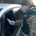На кордоні з Білоруссю житомирські прикордонники вимірюють температуру подорожуючих
