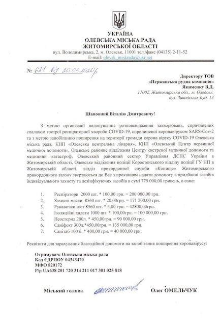 Бизнесмен Буткевич закупает необходимое в больницы Житомирской области на 14 млн грн