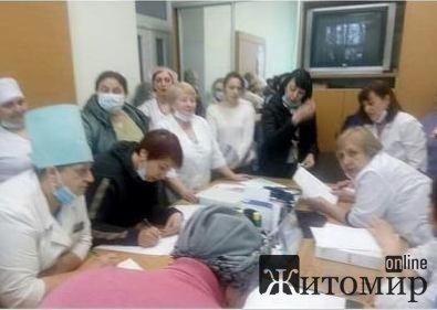 Заява колективу інфекційного відділення про спільне звільнення з роботи -