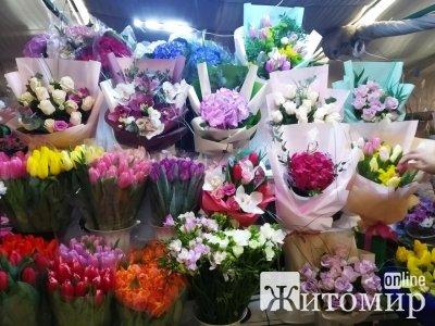 Скільки коштують святкові квіти на Житньому ринку у Житомирі. ФОТО
