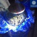У Житомирі патрульні затримали водія і пасажира мопеда з 3-літровою банкою наркотиків