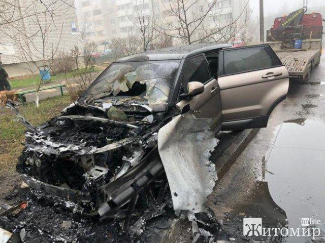 Новій начальниці культури міськради в Житомирі спалили автомобіль вартістю 720 тис. грн