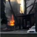 У Житомирі біля ресторану пожежа. ВІДЕО