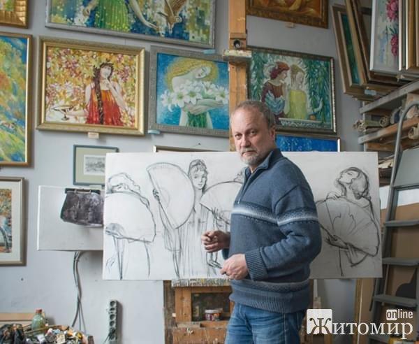 На Благовіщення житомирський художник Юрій Дубінін святкує день народження