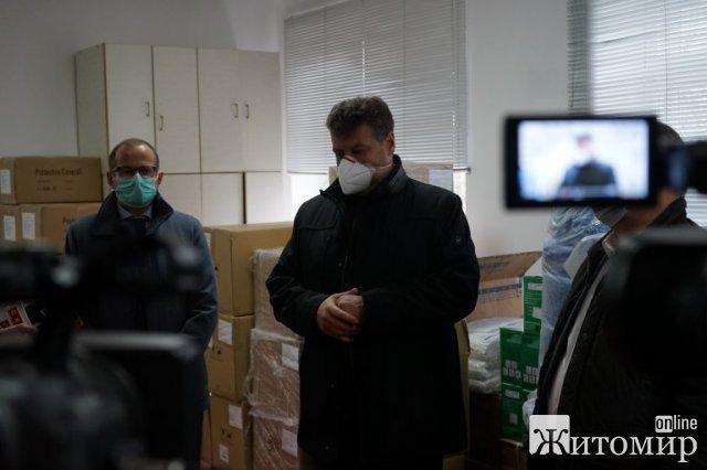Житомирська область отримала біозахисні костюми, маски та респіратори. ФОТО