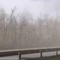 Піщаний буревій під Житомиром: на трасі Київ-Житомир призупинено рух. ВІДЕО
