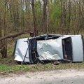 У Житомирській області ВАЗ в'їхав у дерево і перекинувся, двоє людей травмовані