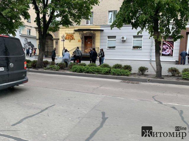 У центрі Житомира авто збило мотоцикліста. ФОТО