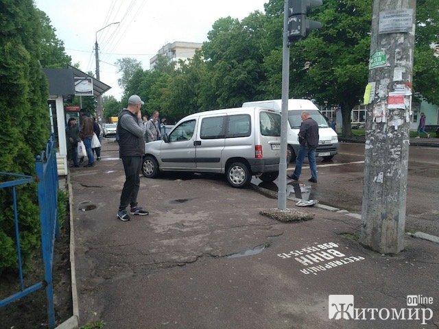 Аварія у центрі Житомира. ФОТО