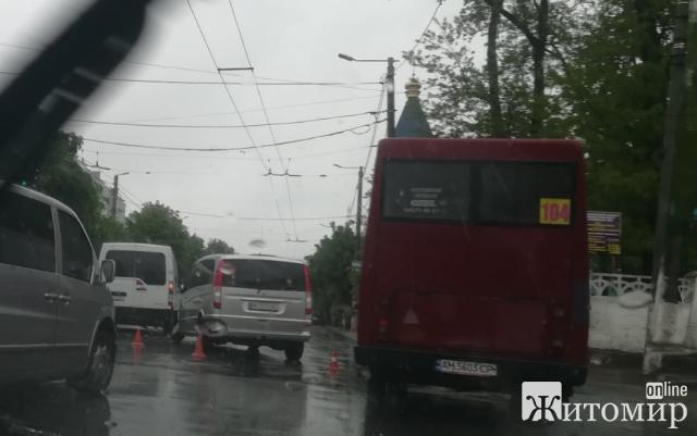 У Житомирі ДТП на розі вулиць Перемоги та Новопівнічної. ФОТО