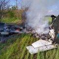 Под Днепром упал самолет, есть погибшие