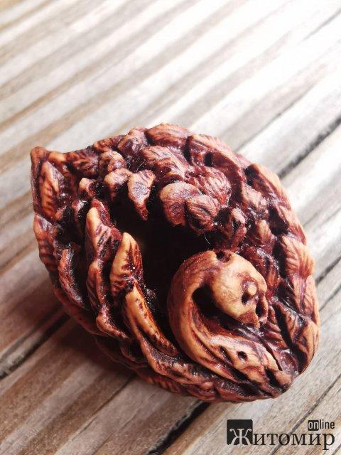 У Житомирі майстер виконує унікальні роботи на фруктових кісточках. ФОТО