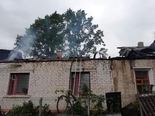 Пожежа в центрі Бердичева. ФОТО