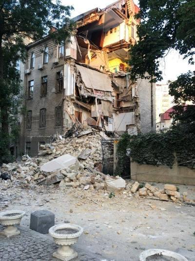 В Одесі обвалився будинок. ФОТО