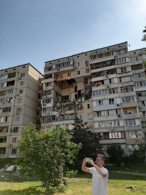 Многоэтажку в Киеве разнесло взрывом газа. Видео