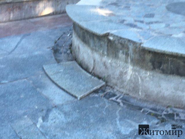 Хто і коли нарешті запустить в роботу каскад фонтанів у Житомирському парку Гагаріна?