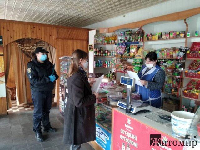 На Житомирщині працівники Держпродспоживслужби перевірили заклади торгівлі та перукарні на дотримання карантинних обмежень. ФОТО