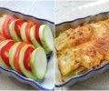 Запечені кабачки з сиром та помідорами. Страва виходить дуже смачна, спробуйте.
