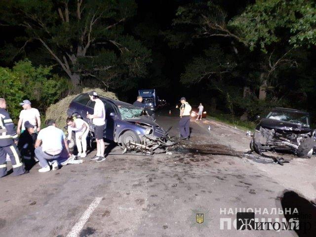 ДТП на Житомирщині: 6 травмований та 1 загиблий. ФОТО