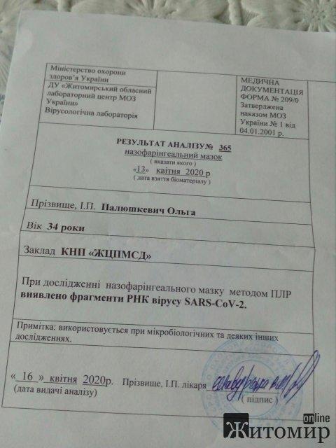 Житомирянка не понимает, что за бардак творится с тестами на коронавирус и хочет, чтобы прокуратура разобралась. ФОТО