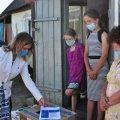 """Багатодітна родина з Житомирщини отримала допомогу у вигляді продуктових та гігієнічних наборів в рамках проєкту """"Допомога дітям України"""""""