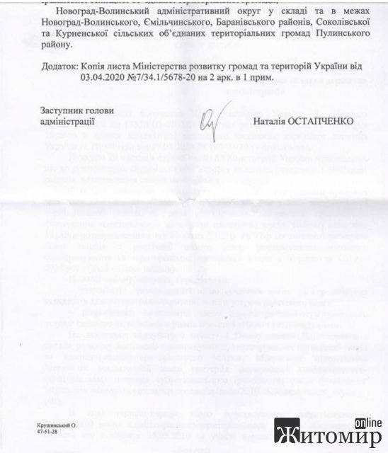Жителі Овруча отримали відповідь з міністерства щодо збереження району