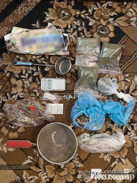 В Андрушівці затримали колишньго поліцейського за розповсюдження наркотиків