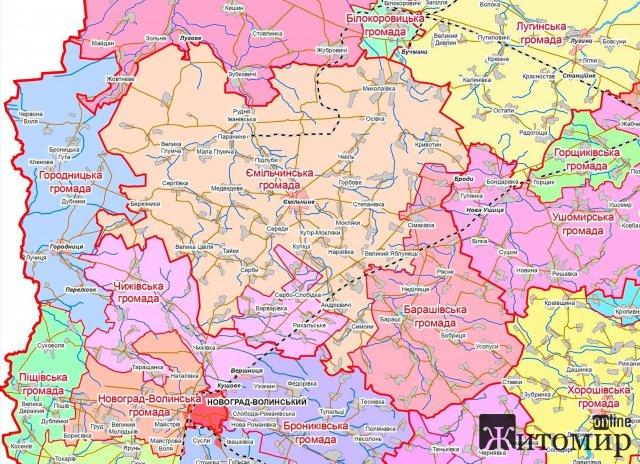 Житомирську область поділили на чотири райони, і людей не питали