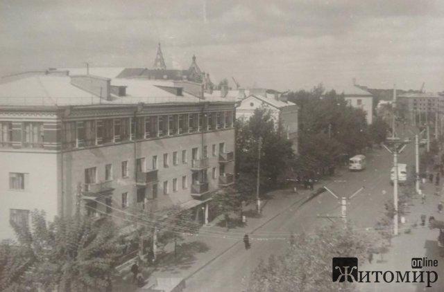 Будинок художника в Житомирі по вулиці Театральній. Раритетне фото