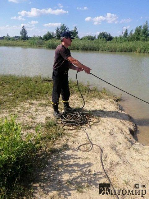 На кар'єрі в Житомирській області потонув молодий чоловік, який хотів перепливсти водойму. ФОТО