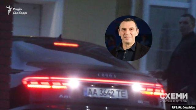 Керівник ОП Єрмак, його заступник Тимошенко і помічник президента Шефір їздять на «номерах прикриття». ВІДЕО