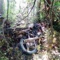 На Олевщині поліцейські розшукали трьох підлітків, які вкрали і спалили мотоцикл