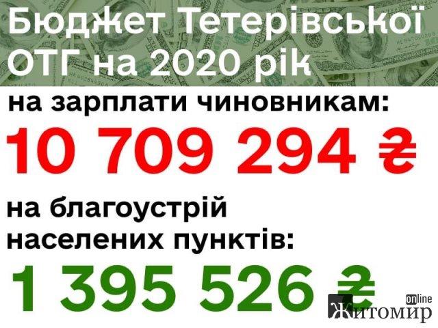 В ОТГ Житомирської області на зарплату чиновникам виділили майже 11 млн грн, а на благоустрій - більше 1 млн грн