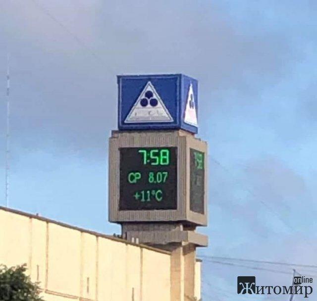 """Зранку """"головний градусник"""" Житомира показував температуру, як у Фінляндії. ФОТО"""
