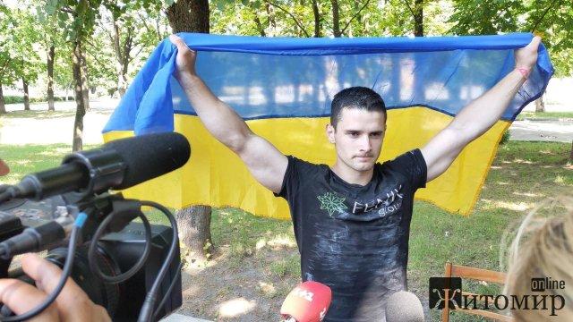 Курсант з Житомира встановив рекорд України. ФОТО