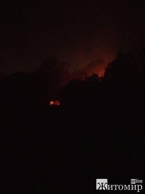 На території дитсадка у Житомирі сталася пожежа. ФОТО