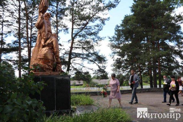 У селі Житомирської області відбувся мітинг приурочений 77-й річниці Копищенської трагедії. ФОТО