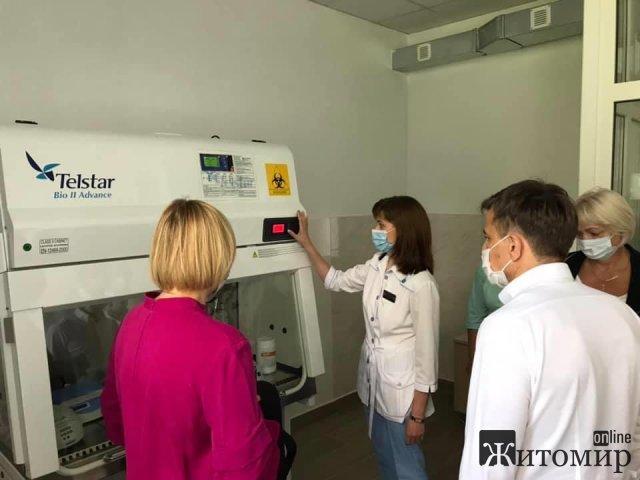 У житомирській поліклініці на Ріхтера запрацює у тестовому режимі міська ПЛР-лабараторія. ФОТО