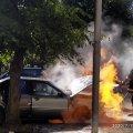 Подробиці загорання автомобіля у Бердичеві