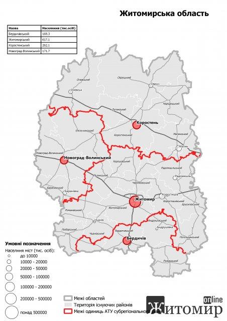 """""""Догралися"""": Житомирська область - офіційно з чотирма районами"""