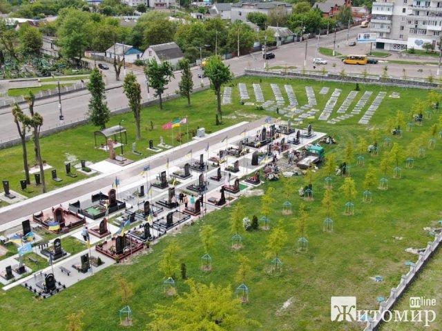 У Житомирі просять впізнати особу чоловіка, який на військовому кладовищі покрав мармурові скульптури. ФОТО