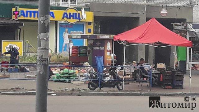 Стихійна торгівля у Житомирі, за яку ніхто не відповідає. ФОТО