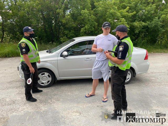 На дорогах Новограда-Волинського правоохоронці зафіксували за тиждень понад сотню ДТП