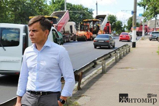 До кінця тижня в Житомирі мають завершити ремонт на Леха Качинського та Чуднівській
