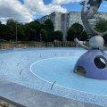 На Польовій у Житомирі закінчують реконструювати фонтан. ФОТО